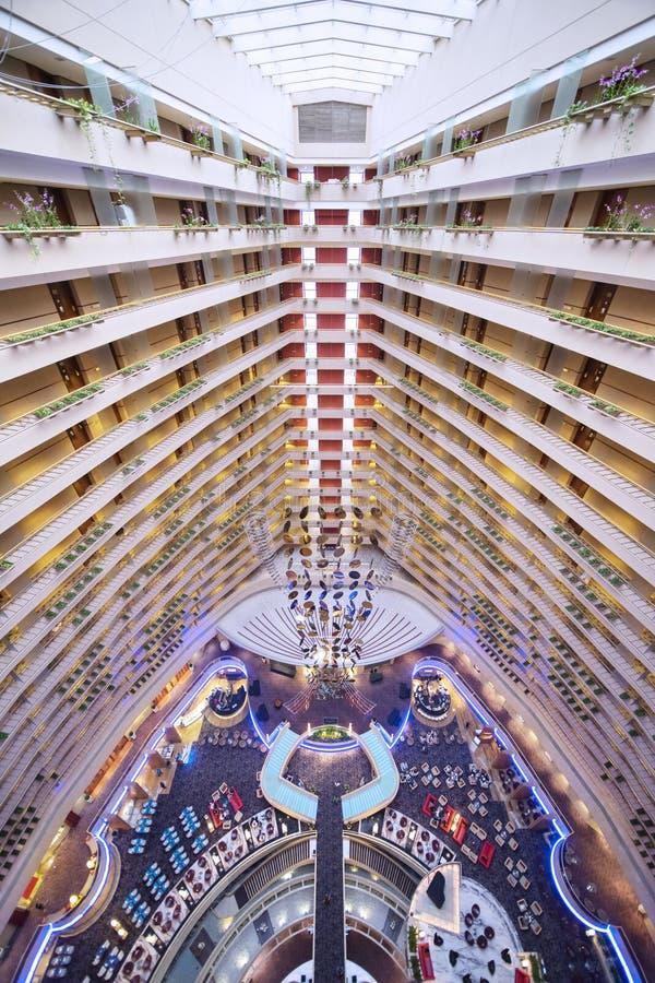 Marina Mandarin Hotel Singapore Interior lizenzfreies stockbild