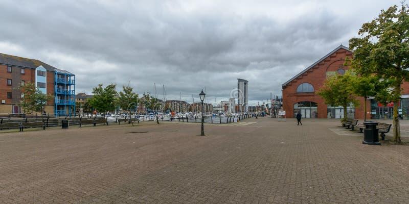 Marina Market Swansea royalty-vrije stock fotografie
