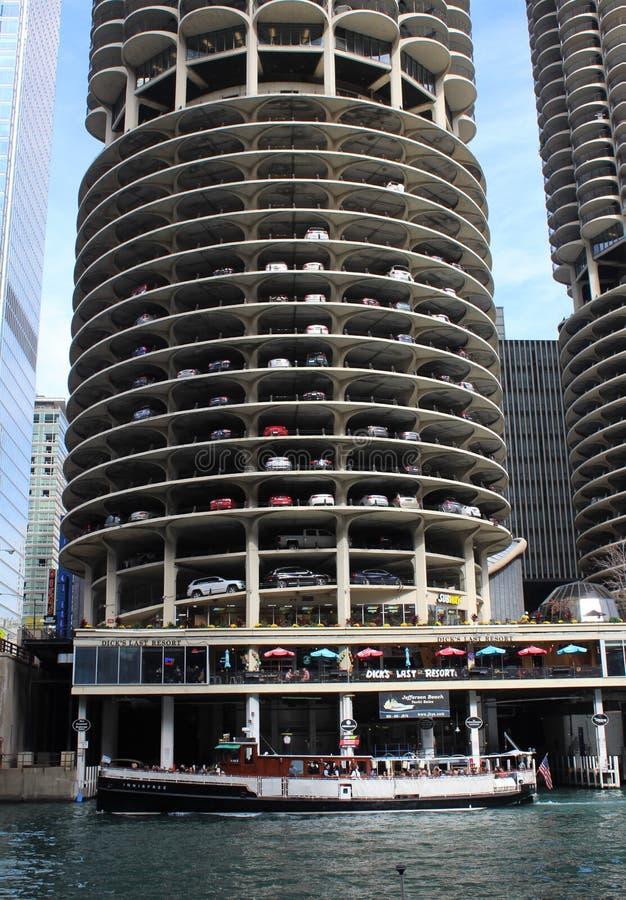 Marina miasta kondominium kompleks w Chicago obrazy royalty free