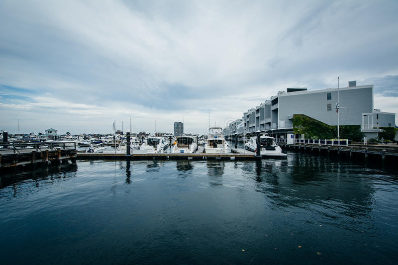 Marina na Charles rzece w Charlestown, Boston, Massachuset fotografia stock