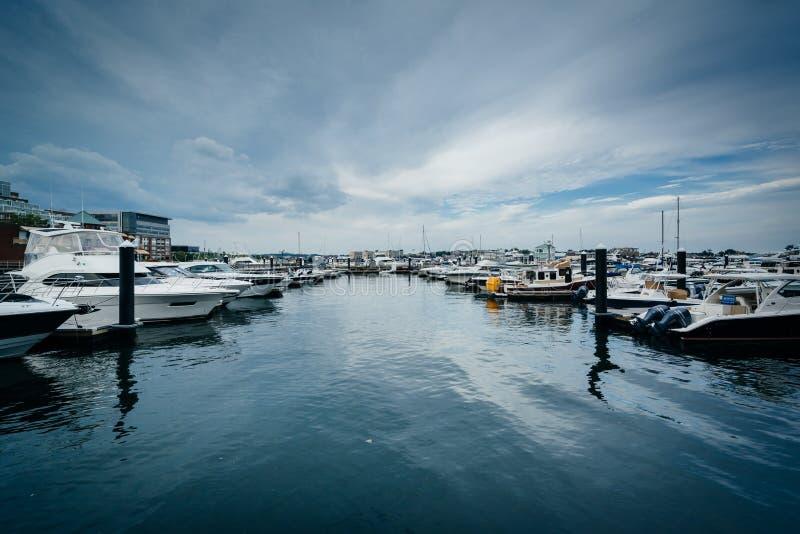 Marina na Charles rzece w Charlestown, Boston, Massachuset obrazy stock