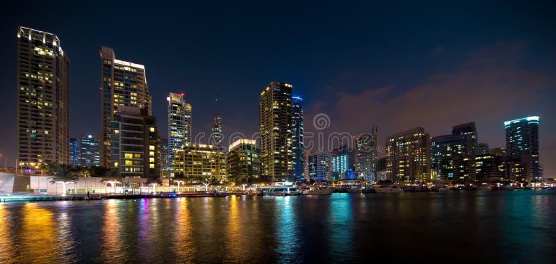 Marina Nightscape foto de archivo libre de regalías