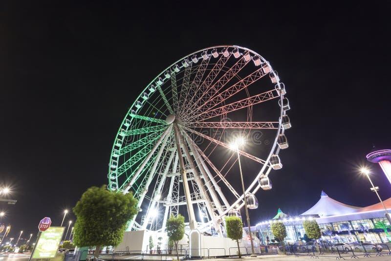 Marina oka ferris toczą wewnątrz Abu Dhabi, UAE zdjęcia stock