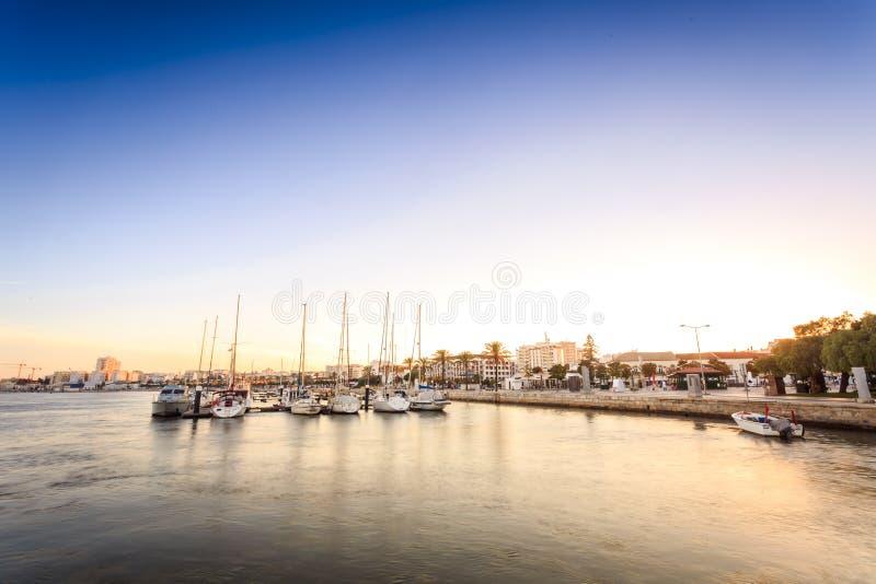 Download Marina På Den Arade Floden I Portimao, Portugal Arkivfoto - Bild av cityscape, hamn: 78725722