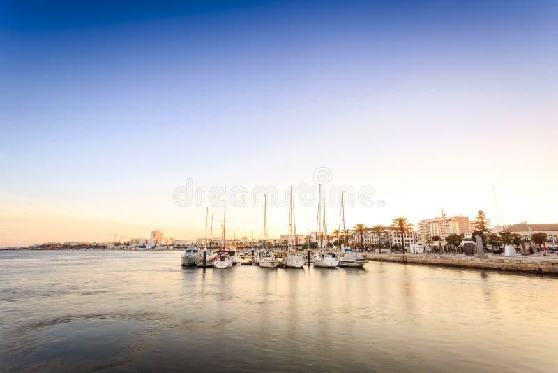 Download Marina På Den Arade Floden I Portimao, Portugal Fotografering för Bildbyråer - Bild av liggande, modernt: 78725869