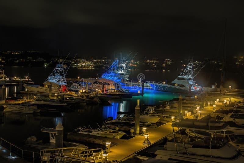 Marina på Hamilton Princess & strandklubban i Bermuda arkivbilder