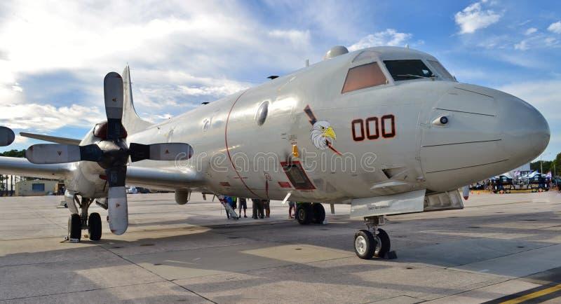 Marina P-3 Orion Anti-Submarine Aircraft fotografie stock