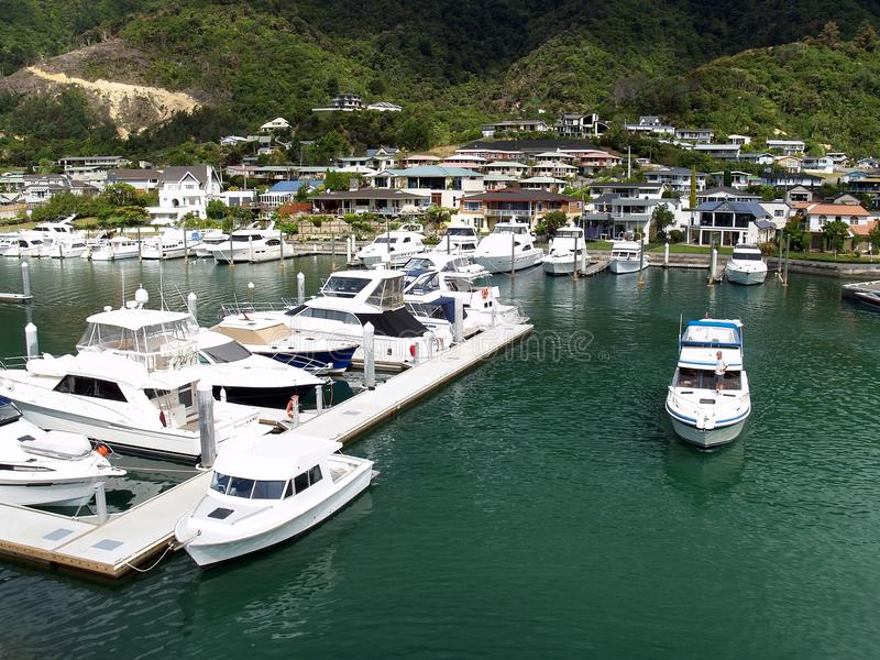 Marina, Picton, Nowa Zelandia zdjęcia royalty free