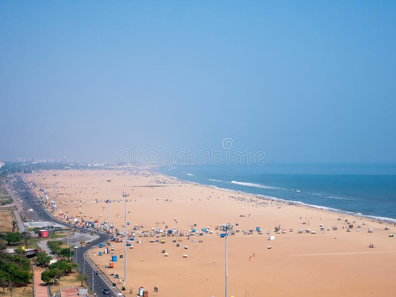 Marina plaża w Chennai mieście, zdjęcia royalty free
