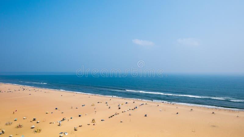 Marina plaża w Chennai mieście, India Ja jest jeden popularna atrakcja turystyczna w Chennai Ja jest długim miastowym naturalnym  zdjęcia royalty free