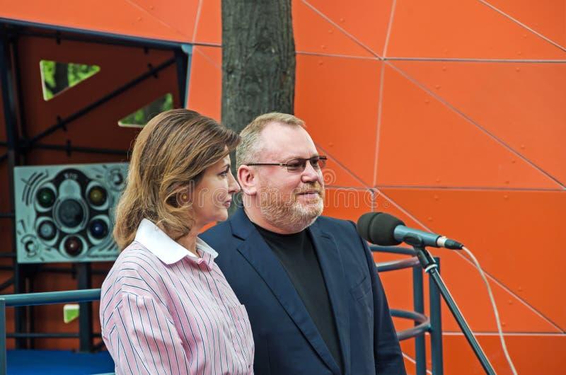 Marina Poroshenko and Valentin Reznichenko royalty free stock photo