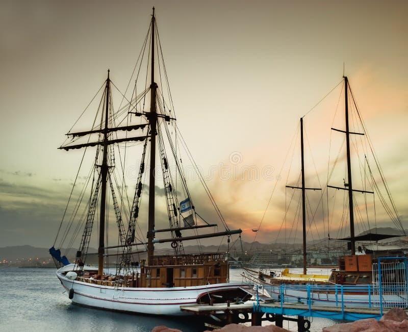 Marina port at Eilat royalty free stock photography