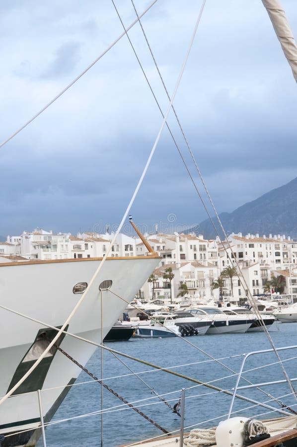 The Marina at Puerto Banus stock image
