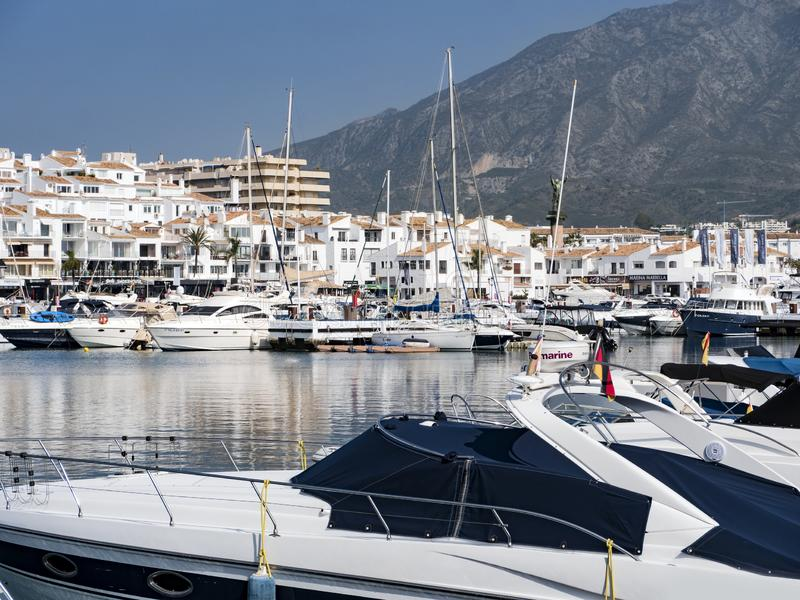 MARINA OF PUERTO BANUS royalty free stock images