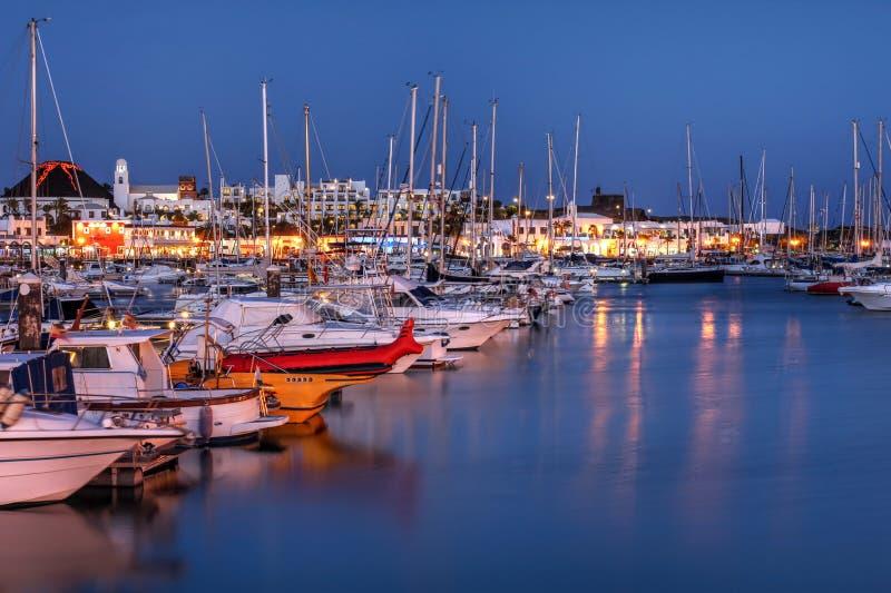Marina Rubicon, Lanzarote, Spanje stock afbeelding