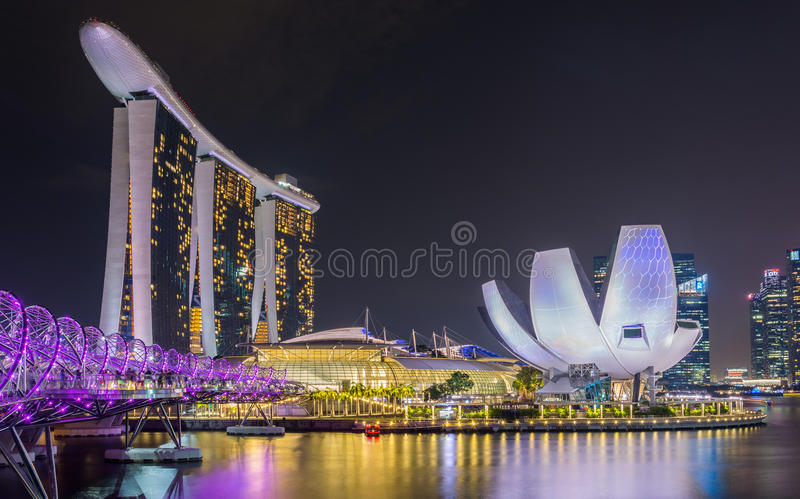 Marina Sands foto de archivo