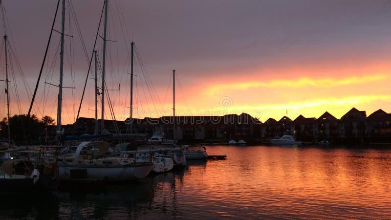 Marina, Sky, Sunset, Dock stock images