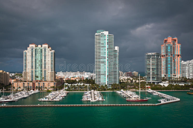 Download Marina At South Point In Miami Stock Photo - Image: 83713160