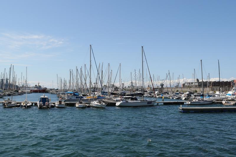 Marina, stad för Simon ` s royaltyfria bilder