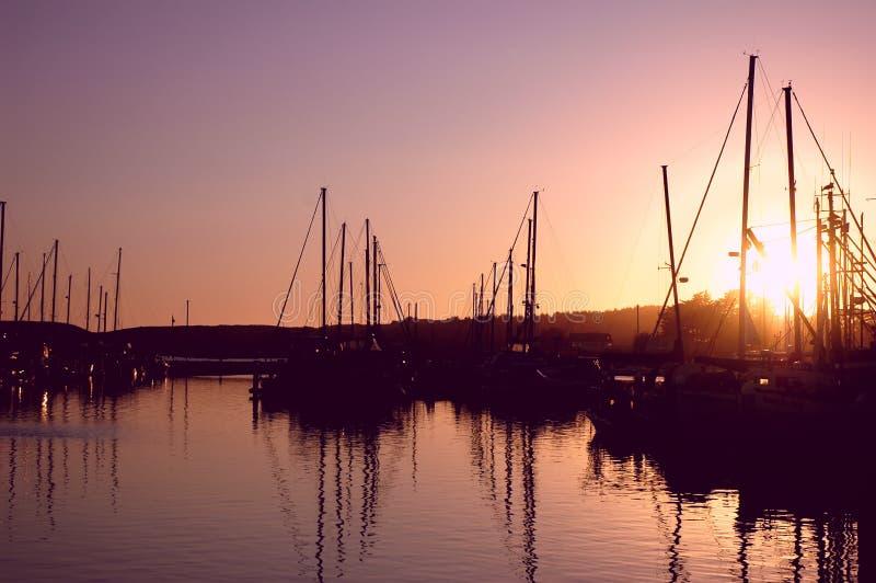 Marina Sunset stock photos