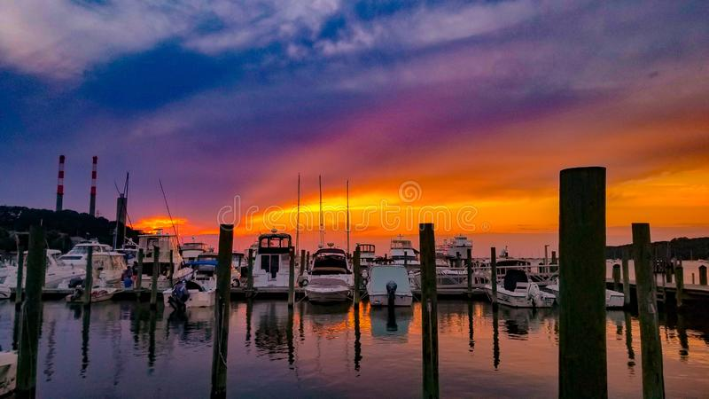 Marina Sunset stock images