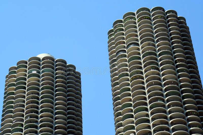 Download Marina Towers Chicago stock image. Image of urban, towers - 3445003
