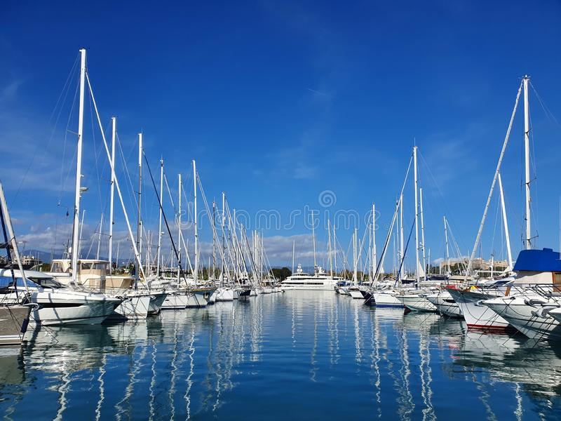 Marina view in Antibes France royalty free stock image