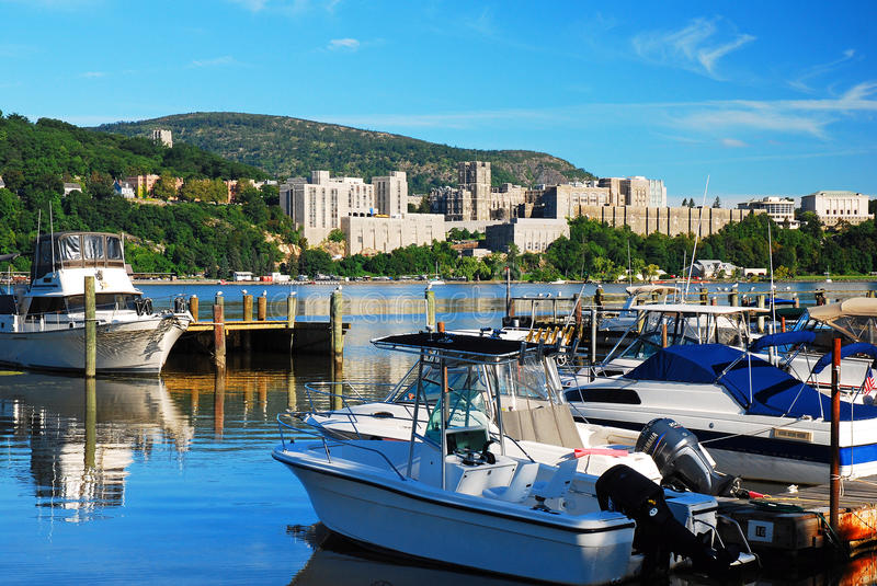 Marina view of West Point royalty free stock image