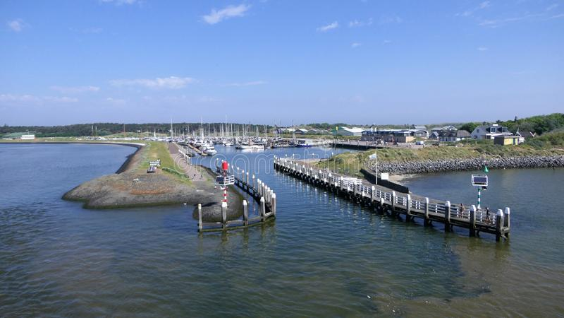 Marina Vlieland royaltyfria foton