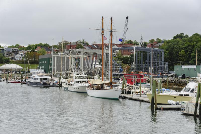 Marina w Belfast, Maine obrazy royalty free