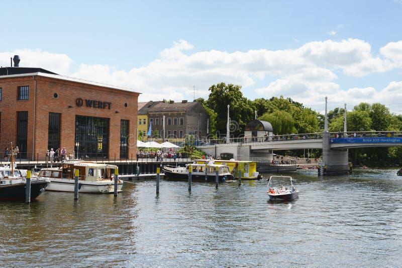 Marina w mieście Brandenburg dera Havel (Brandenburg, Niemcy zdjęcie stock