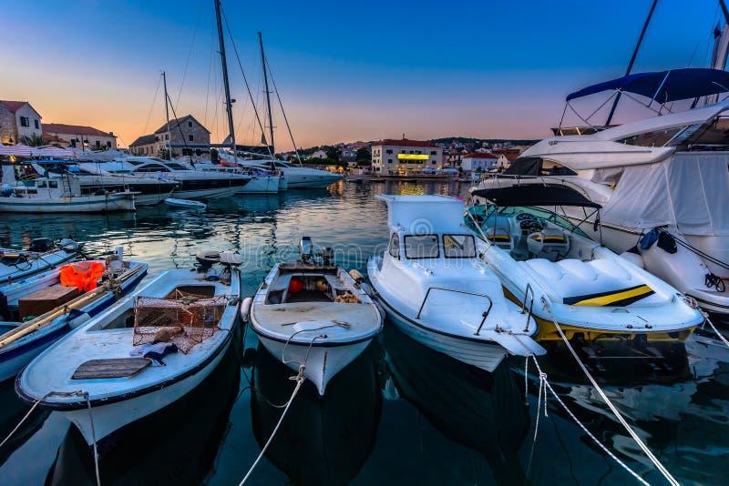 Marina w Primosten, Dalmatia region obraz royalty free