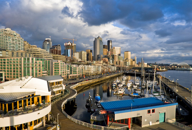 marina w Seattle obrazy stock