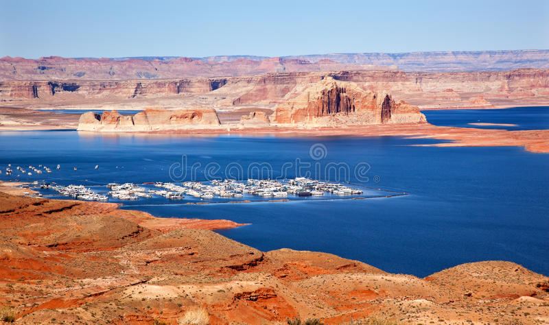 Marina Wahweap Bay Lake Powell Glen Canyon Arizona Stock ...