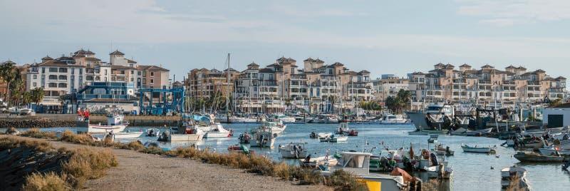 Marina widok w Punta Del Morał, Hiszpania zdjęcia royalty free