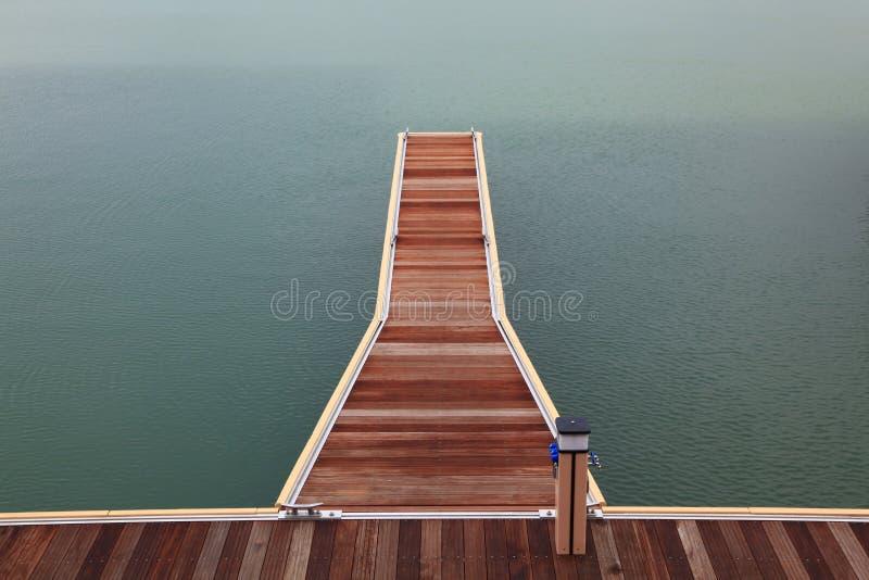 Marina wooden jetty walkway