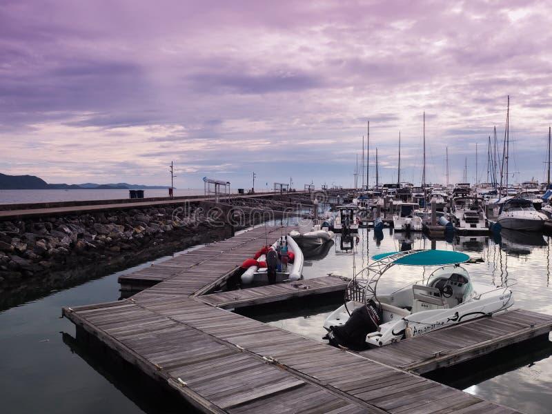 Marina yacht club at Pattaya stock image