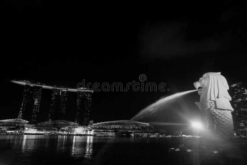 Marinabay, Merlion, Σιγκαπούρη στοκ φωτογραφία
