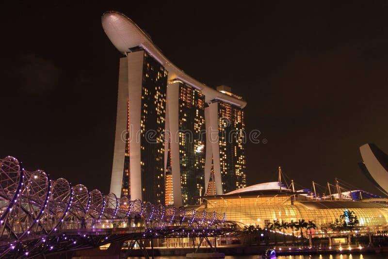 Marinabay piaski, Singapur obraz royalty free