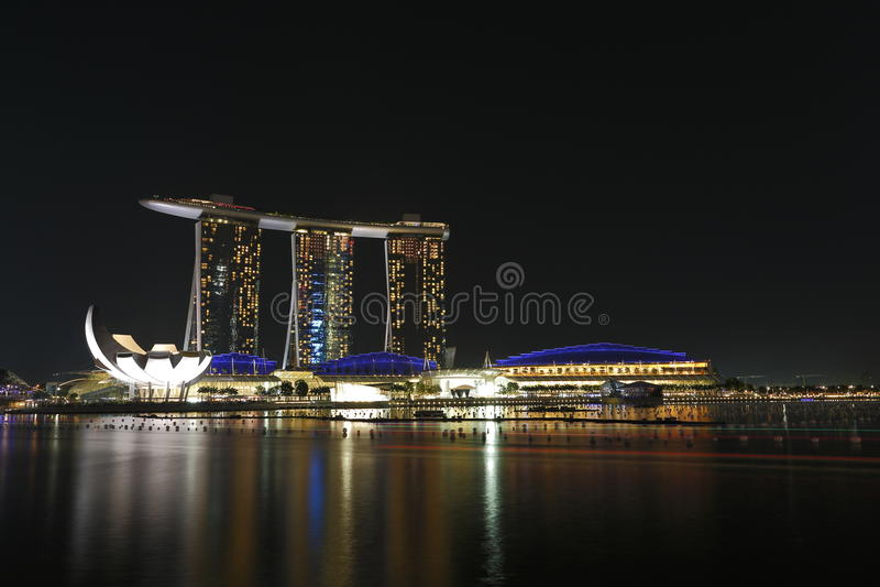 Marinafjärden Sands Singapore Arkivfoto