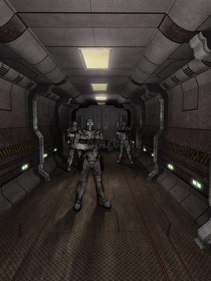 Marinai dello spazio - guardie del corridoio royalty illustrazione gratis
