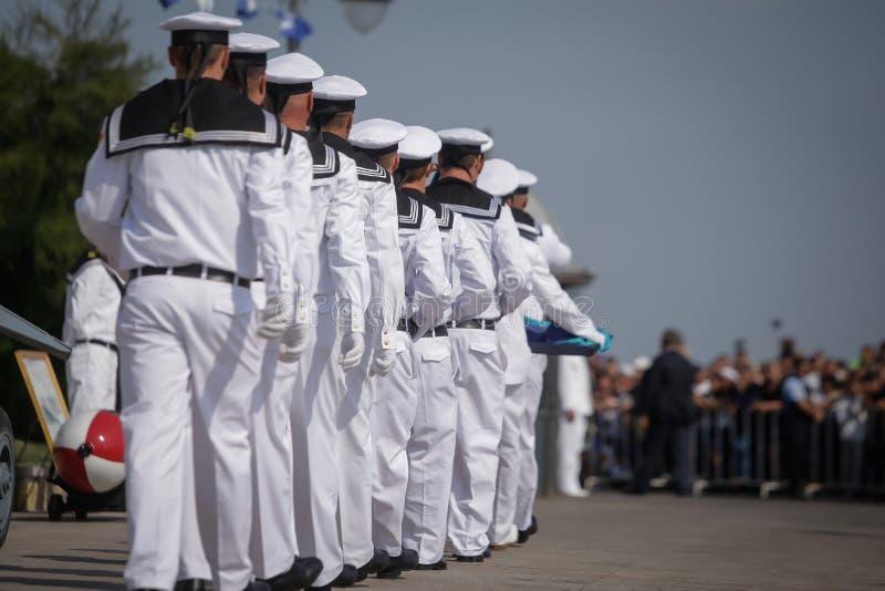 Marinai militari rumeni fotografia stock libera da diritti