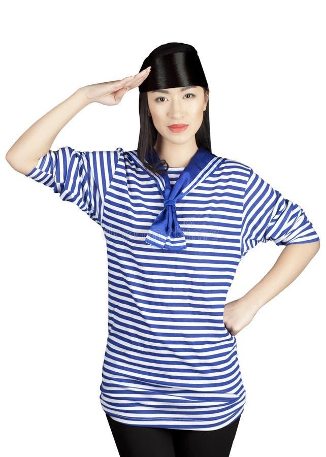 Marinaio cinese della ragazza fotografia stock