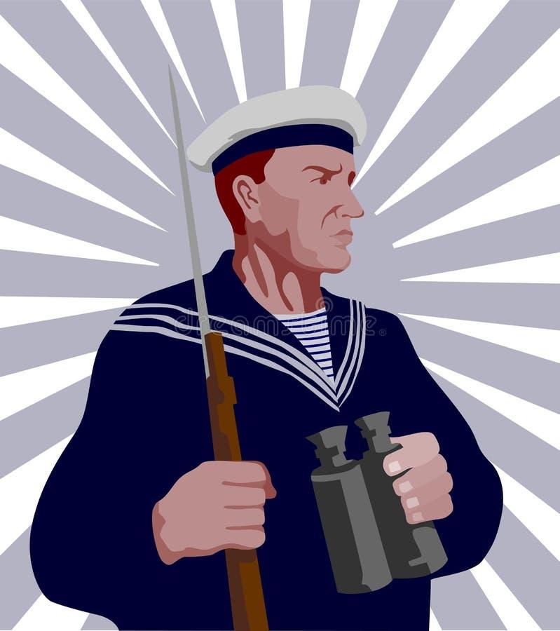 Marinaio leale della seconda guerra mondiale illustrazione di stock