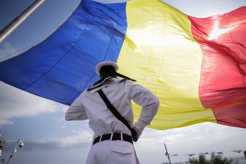 Marinaio militare rumeno fotografia stock