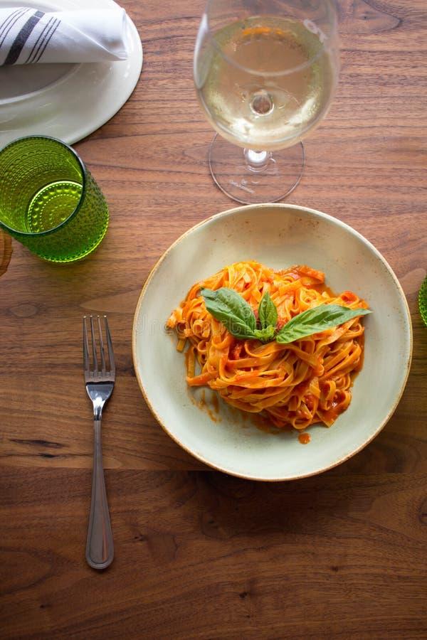 Marinara de Linguini fotografia de stock
