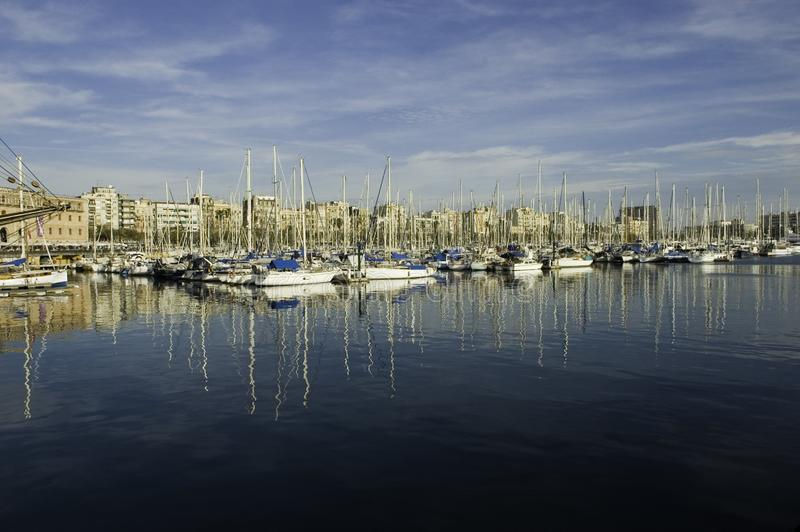 MarinaSeaport royaltyfria foton