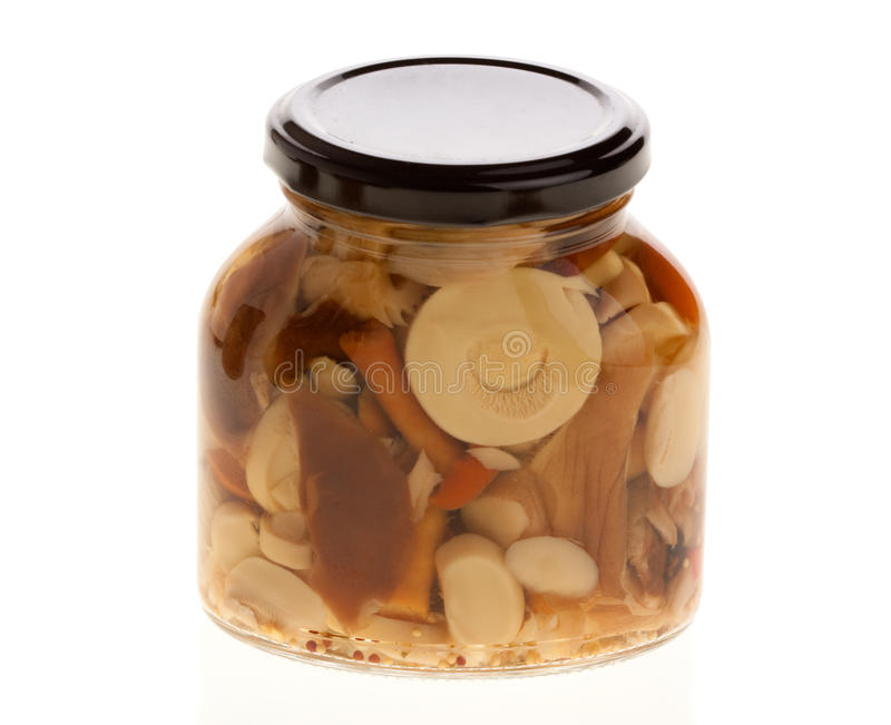 marinated грибы стоковое фото