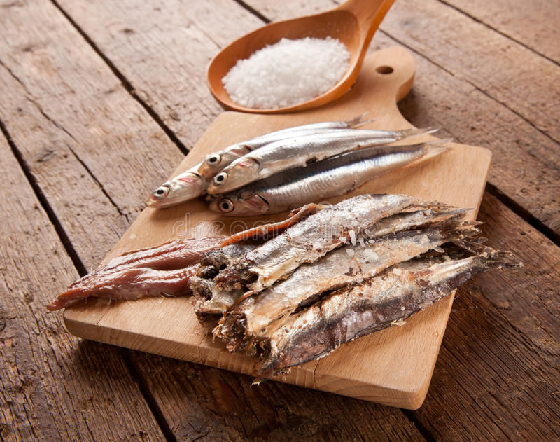 Download Marinated anchovies stock photo. Image of wood, gastronomy - 39508294