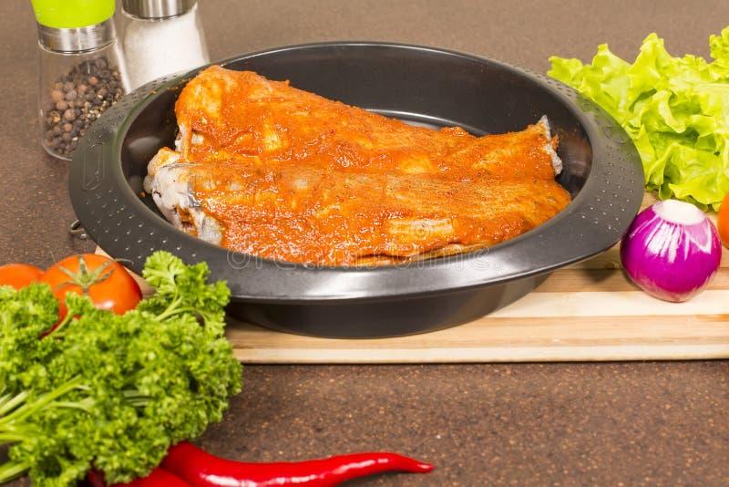 Marinated brotola рыб стоковые фотографии rf